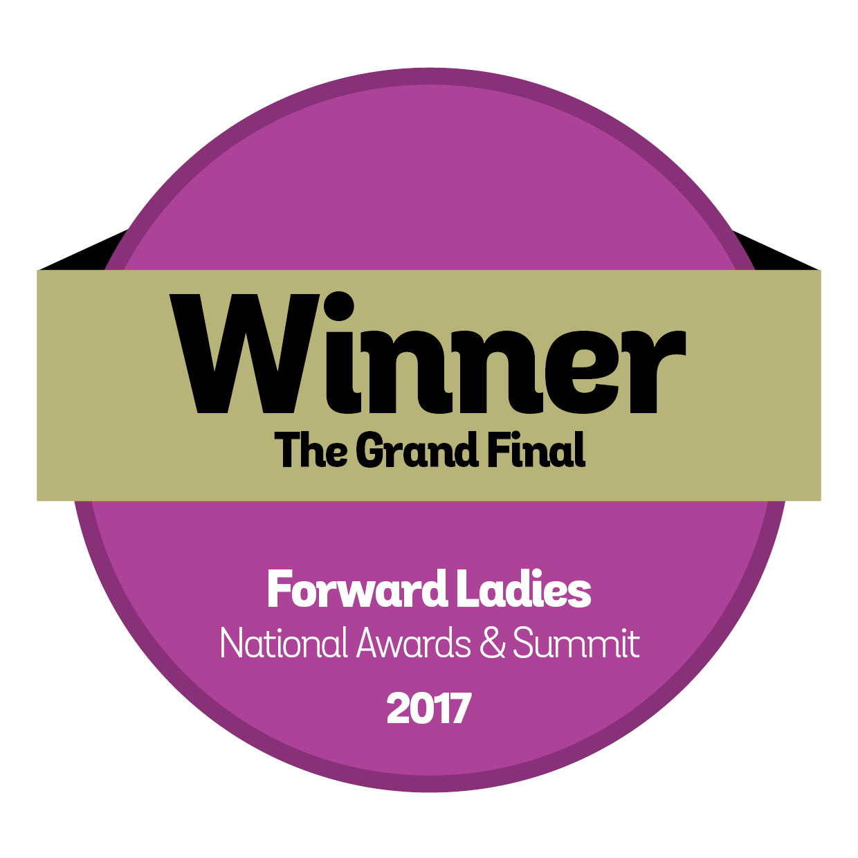 Forward-Ladies-Awards-Badges 2017 Winner