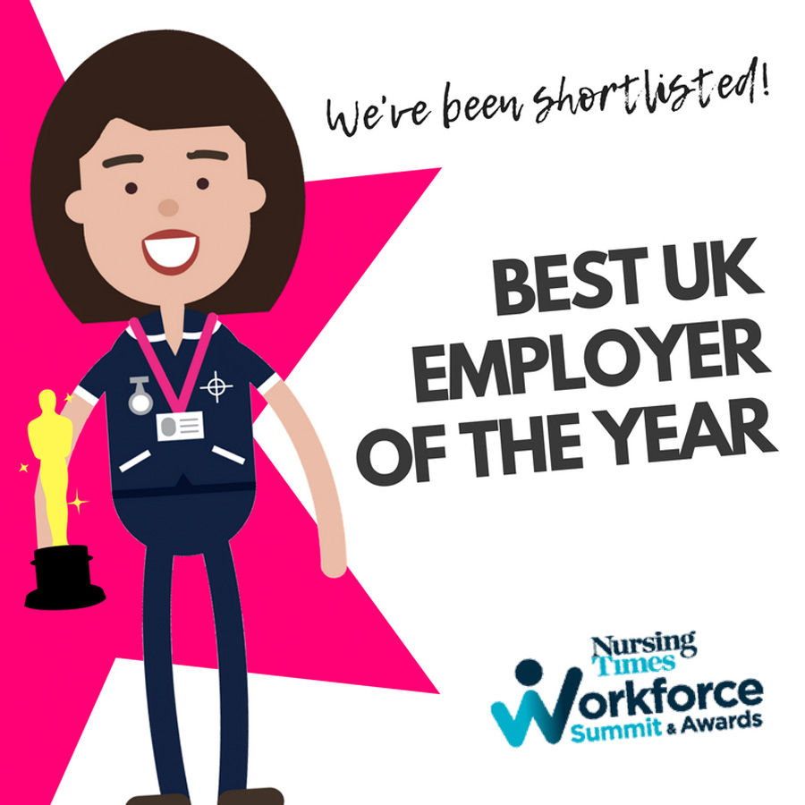 We're shortlisted for Best UK Employer