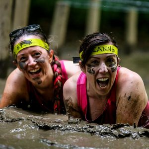 Girls getting muddy for Total Warrior